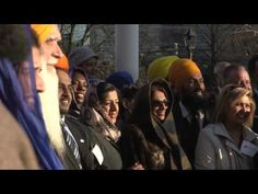"""#MustWatch First Time in HISTORY! Nishaan Sahib raised in Ontario's Parliament! On April 14, 2016 the Nishaan Sahib was Officially raised in Ontario's Parliament. First Time ever in History, The Sikh Flag was raised in any Parliament or Legislature.  """"This marks the first time in Ontario's history and possibly the first time in any Parliament or Legislature in the world that the Nishaan Sahib was raised."""" Share & Spread this moment of Pride! http://barusahib.org/..."""