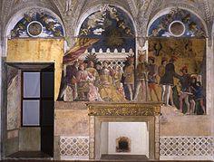 Mantegna. Camera picta, parete della corte - Cámara de los esposos - Wikipedia, la enciclopedia libre