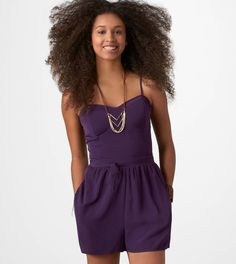 American Eagle Corset Romper. Love the color, can be dressed up or down. Definitely a must have for summer!