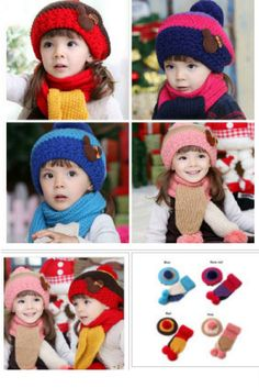 Sweet-Tempered New Winter Rabbit Ear Baby Hat Scarf Set Children Warm Hat Wool Hooded Scarf Cap Set Lovely Kids Hat Scarf Set Evident Effect Mother & Kids