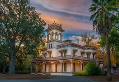Bidwell Mansion at sunrise by David Broady.