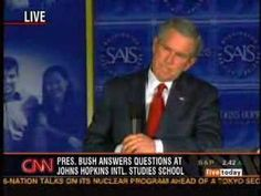 Bush can't answer an important question. - YouTube