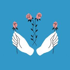 tallulah fotnaine's hands and flowers illustration