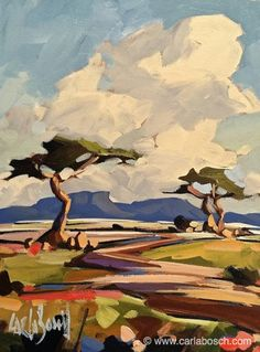South African Bushveld Landscape by Carla Bosch                                                                                                                                                                                 More