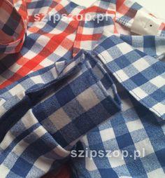Body koszulowe w SzipSzop.pl, w niebieska kratkę oraz w czerwono-niebieską. Francja Elegancja;)  https://www.szipszop.pl/