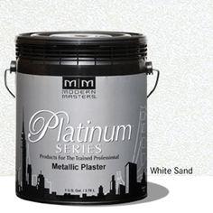 Platinum Series Metallic Plaster - White Sand - Gallon picture
