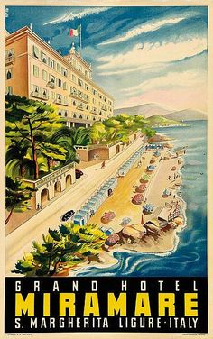 ITALY Grand Hotel Miramare - S. Margherita, Ligure - 1940's - (Prora) -