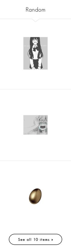 """""""Random"""" by moonlight-princess-of-the-stars ❤ liked on Polyvore featuring anime, manga, anime pics, art, backgrounds, filler, home, kitchen & dining, egg and accessories"""