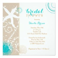 Shop Modern Beach Bridal Shower Invitation created by BridalHeaven. Personalize it with photos & text or purchase as is! Retirement Party Invitations, Beach Wedding Invitations, Wedding Invitation Design, Bridal Shower Invitations, Wedding Stationery, Invitation Ideas, Retirement Celebration, Stationery Design, Custom Invitations