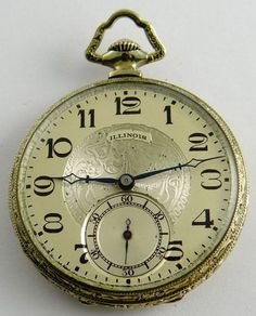 Illinois The Autocrat WGF Edwardian dress pocket watch fine cond Edwardian Dress, Edwardian Era, Edwardian Fashion, Victorian Era, Old Watches, Pocket Watches, Gold Face, Illinois, Clocks