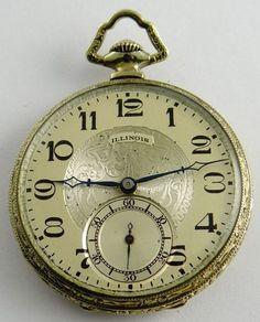 Illinois The Autocrat 12S WGF Edwardian Dress Pocket Watch