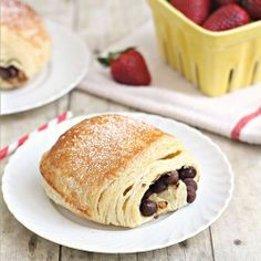 Chocolate Danish.  No mixer, no kneading - no fuss.  Just buttery, flaky deliciousness!