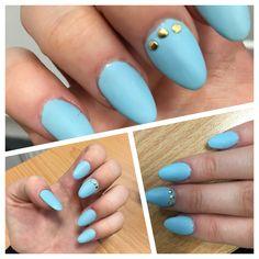 #matt #sky #blue #nails