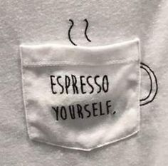 Excellent Pic Embroidery Patterns coffee Thoughts T-Shirt aufpimpen Idee für Kaffee-Liebhaber – – Hand Embroidery Stitches, Modern Embroidery, Hand Embroidery Designs, Embroidery Art, Embroidery Patterns, Sewing Patterns, T Shirt Embroidery, Sewing Art, Sewing Crafts