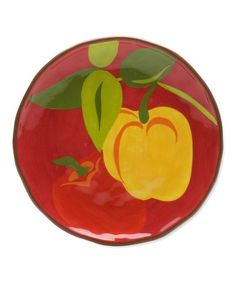 Look what I found on #zulily! Bell Pepper Jardin Plate - Set of Four by tag, $29 !!  #zulilyfinds
