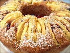 Ciambellone con mele e marmellata Kiss The Cook, Biscotti, Italian Dishes, Daily Meals, Amazing Cakes, Food To Make, French Toast, Food And Drink, Pumpkin
