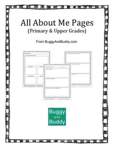 All About Me/ Student Questionnaire for BOTH Primary and Upper Grades~ buggyandbuddy.com