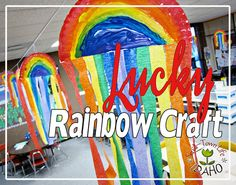 Our Small-Town Idaho Life: LUCKY RAINBOW KID's CRAFT for MARCH
