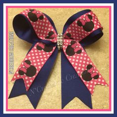 A personal favorite from my Etsy shop https://www.etsy.com/listing/559905822/royal-blue-pink-minnie-mouse-hair-bow