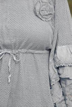 Jeanne d`arc living Poncho grey passend zum Vintage Style Tunika Kleid Shabby ch | eBay