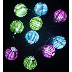 guirlande lumineuse | Guirlande lumineuses - 10 boules LED colorées - 1m20 - EasyDistri