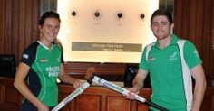 Irish Hockey Stars Nikki Evans and Shane O'Donoghue paid a visit to Stillorgan Park Hotel this week to promote the continued partnership of Irish Hockey and the Hotel. Men's Hockey, Park Hotel, Evans, Olympics, Irish, Green, Irish Language, Ireland