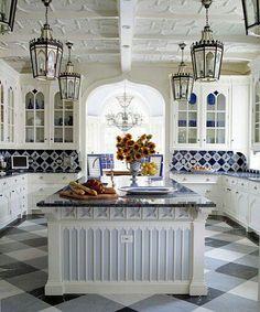 French blue kitchen