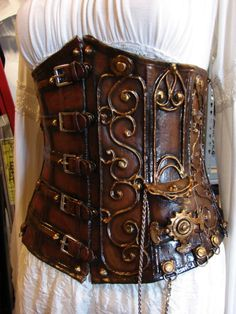 Organic Armor Steampunk Corset. Order a custom corset at OrganicArmor.com/commissions