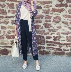 Casual hijab outfit with long cardigan. Love this lavender color. Casual hijab outfit with long cardigan. Love this lavender color. The post Casual hijab outfit with long cardigan. Love this lavender color. appeared first on New Ideas. Hijab Casual, Ootd Hijab, Hijab Chic, Hijab Fashion Casual, Hijab Fashion Summer, Hijab Wear, Street Hijab Fashion, Muslim Fashion, Modest Fashion