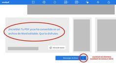 Convertir PDF a word Internet, Google Drive, Bar Chart, Coaching, Blog, Words, Photoshop, Followers, Spanish Classroom