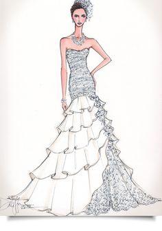 Illustration - wedding dress