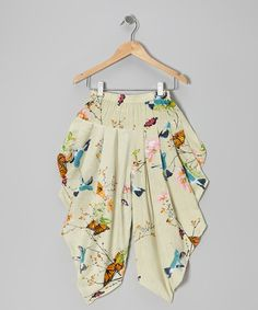 Save Now on this Tan Butterfly Harem Pants - Toddler & Girls by Yo Baby on #zulily today!
