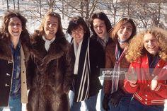 Foreigner, group portrait, New York, 1977, L-R Dennis Elliott, Ed Gagliardi, Al Greenwood, Mick Jones, Lou Gramm, Ian McDonald.