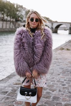 So imagine how excited I was to create something with Paul & Joe around their show in Paris. Ohh Couture, Winter Pastels, Leonie Hanne, Paul And Joe, Paris Shows, Brand Me, Fur Coat, Winter Hats, Street Style