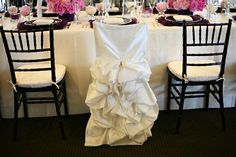 Bride's chair for the bridal party - if only i'd thought of this - the chair could have been the same as my dress!