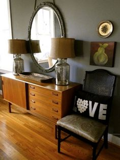 our dining room   the redesign company. wall color is cityscape by sherwin williams