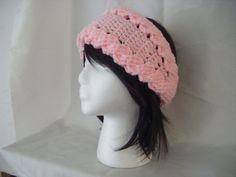 INSTANT DOWLOAD Crochet Cables Pink Headband Ear by NatalieSpot