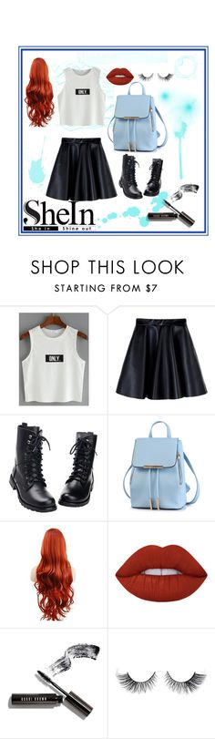 """""""Only Splatter"""" by devin-10 on Polyvore featuring MSGM, Lime Crime, Bobbi Brown Cosmetics and shein"""