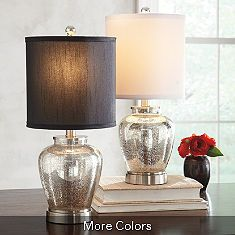 Mercury glass lamps for master bedroom night stands