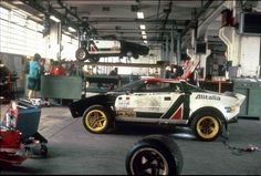 Lancia Stratos Rally Team Workshop