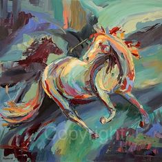 Hey, I found this really awesome Etsy listing at https://www.etsy.com/listing/226368053/original-oil-painting-abstract-horse