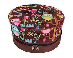 Owl Give a Hoot Insulated Cake Carrier - Wholesale Accessory Market Pie Carrier, Pie Cake, Cake Tins, Unique Gifts, Owls, Accessories, Salad, Embroidery, Google Search