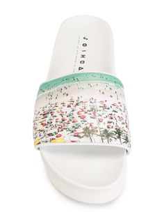 Joshua Sanders beach print sliders  sandals