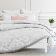 Bedroom inspiration and bedding decor | The Ellis Grey Comforter Duvet Cover | Crane and Canopy