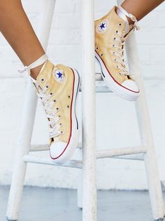 Converse Dance Moves Hi Top Chucks at Free People Clothing Boutique