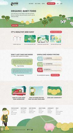 Unique Web Design, Puree Organics #Web #Design