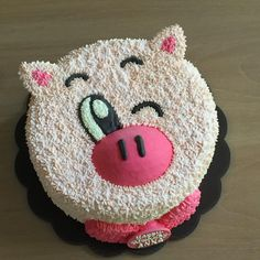 Chinese New Year Cake, Piggy Cake, Pig Cookies, Cream Decor, New Year's Cake, Buttercream Flower Cake, Animal Cakes, Sculpted Cakes, Dinosaur Cake