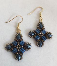 Earrings with DiamonDuos and 2H Bars Beautiful Rain Jewelry