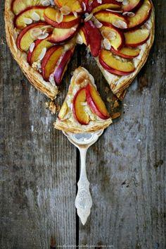 Nectarine and pistachio frangipane