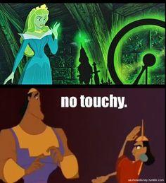 No touchy -disney humor